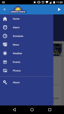 SUNRISE RADIO - screenshot