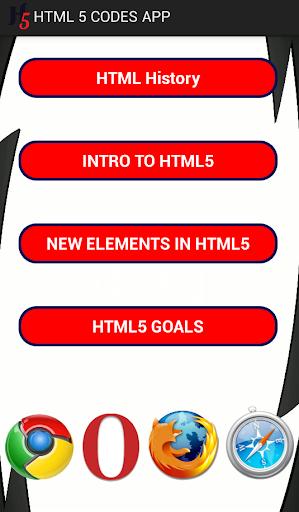 HTML 5 Codes App