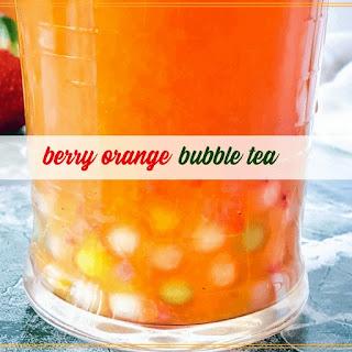 Honeyed Berry Orange Bubble Tea Recipe