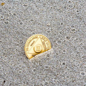 Two Years by Thomas Shaw - Artistic Objects Other Objects ( aa, chip, serenity, north carolina, obx, alcoholic, nikon d7200, outerbanks, years, gold, nikon, sand, coast, photography, coin )