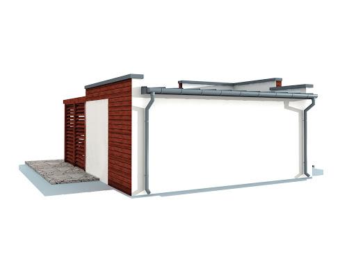 projekt Palmas szkielet drewniany dom letniskowy