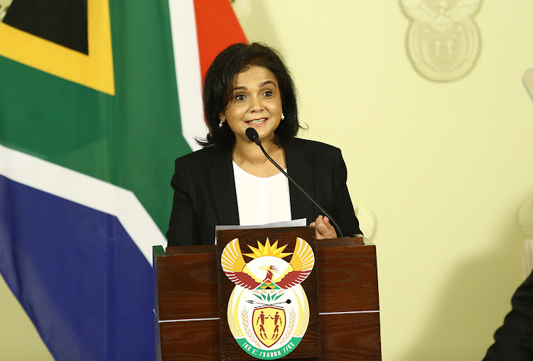 New National Director of Public Prosecution, Advocate Shamila Batohi addresses the nation after she was revealed by President Cyril Ramaphosa at the Union Building.