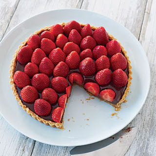 Strawberry-Chocolate Truffle Tart