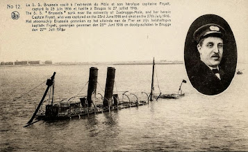 "Photo: ""Brussels"" sunk near the extremity of Zeebrugge-Mole"