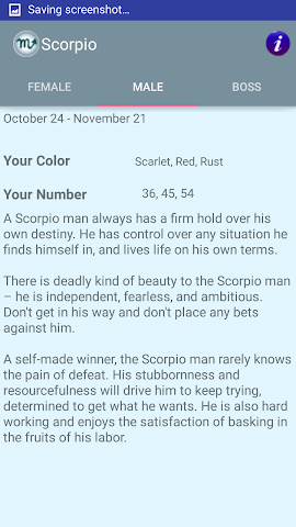 android Zodiac and Sun Signs Secrets Screenshot 3