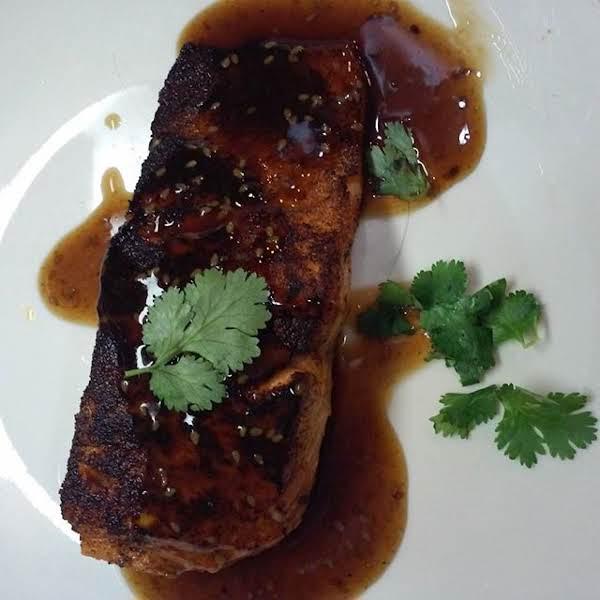 Salmon Glazed W/toasted Sesame, Soy & Ginger Recipe