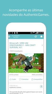 Download AuthenticGames Oficial APK Latest Version App For Android - Skin para minecraft pe do authenticgames