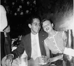 Photo: Al Barra and 1st wife Annie 1952