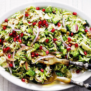 Broccoli Brussels Sprout Salad with Honey Dijon Vinaigrette Recipe