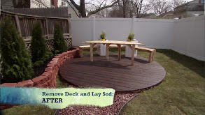 Replacing Deck With Sod, Adding a Seating Area and Walkway thumbnail