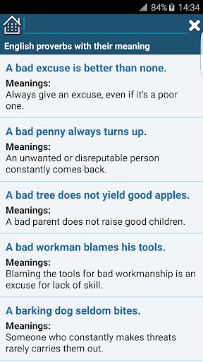 All English Idioms & Phrases 2.0 screenshots 5