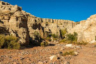 Photo: Box canyon; Plaza Blanca, Abiquiu, New Mexico