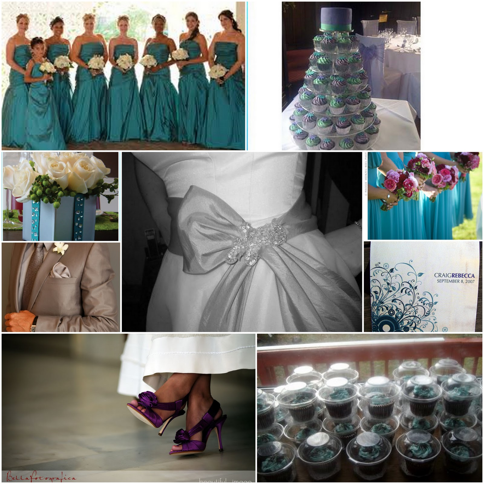 teal and purple wedding colors purple and silver wedding Teal Purple Cupcake