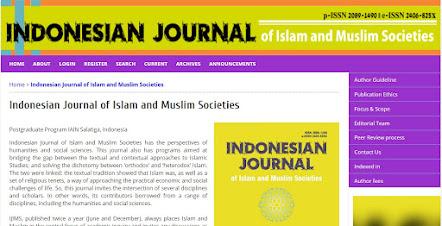Indonesian Journal of Islam and Muslim Societies (IJIMS)