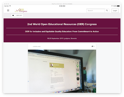 OER Congress- screenshot thumbnail