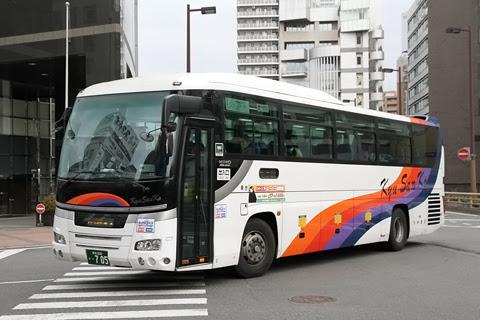 九州産交バス「ひのくに号」 ・705 福岡天神にて