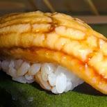 mouth watering anago sushi in Roppongi, Tokyo, Japan