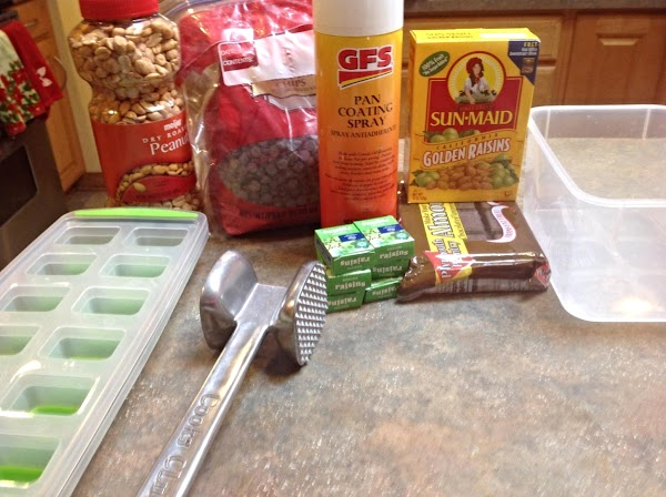 These are most of the main ingredients used to make the candy.