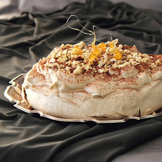 Cappuccino Pavlova with Kahlua Cream Recipe