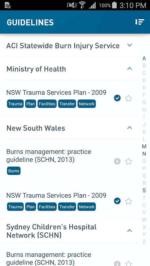 NSW Trauma- screenshot