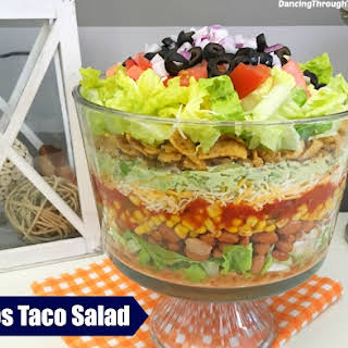 Taco Salad With Fritos.