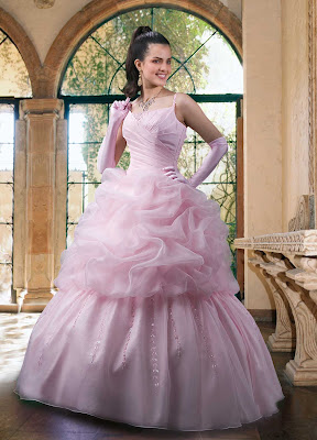 Pink Prom Wedding Gown