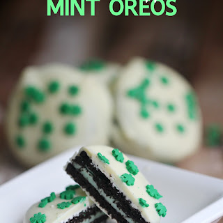 Chocolate Dipped Mint Oreos.