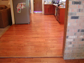 Photo: finished job 5'' 3/4 hardwood planks