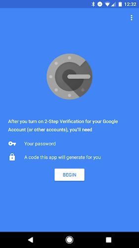 Google Authenticator Android App Screenshot