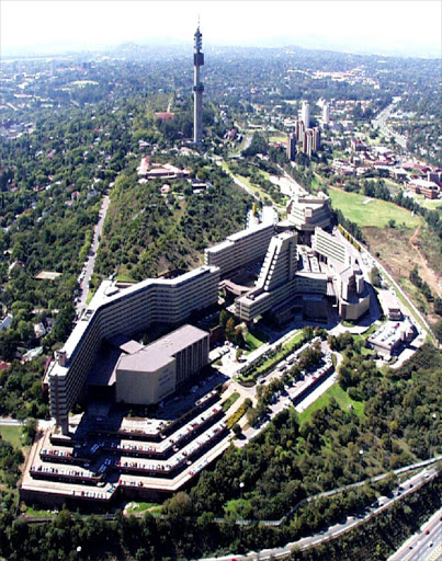 An aerial view of the University of South Africa (Unisa) Pretoria campus.