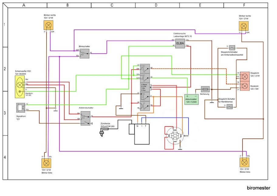 Schaltplan S51 Elektronik 6v Moser - Wiring Diagram