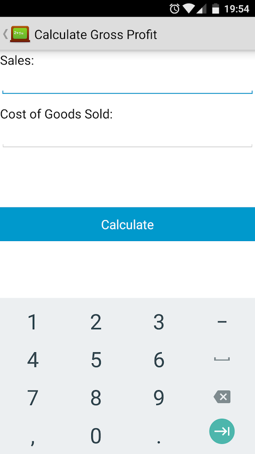 Business Calculator- screenshot