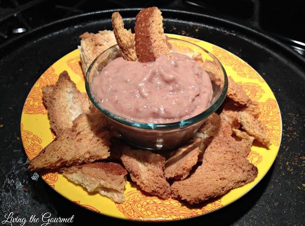 Artichoke & Red Bean Dip With Bread Crisps Recipe