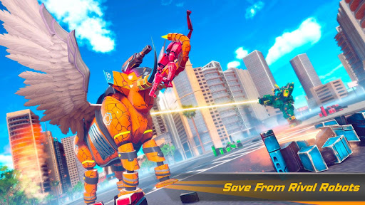 Flying Elephant Robot Transform: Flying Robot War 1.1.1 Screenshots 8