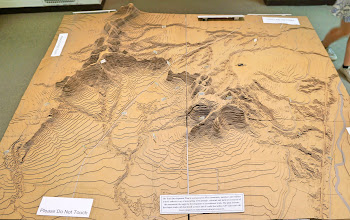 Photo: In the Visitor Center is this relief map of the area.