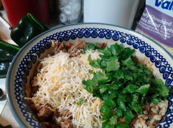 For this batch, I added cheese and cilantro to the mix...MMMMmmmmmmmmmm!!!!