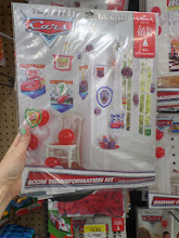 Photo: A room transformation kit... filled with lots of cute Cars decorations.