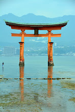 Photo: The Itsukushima shrine dates from 593 with its famous water gate - accessible only at low tide