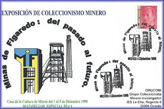 Photo: Tarjeta del matasellos de las Minas de Figaredo: del pasado al futuro, 1998 Mieres