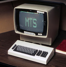 Photo: IBM 3277 Display with the MTS Signon Screen