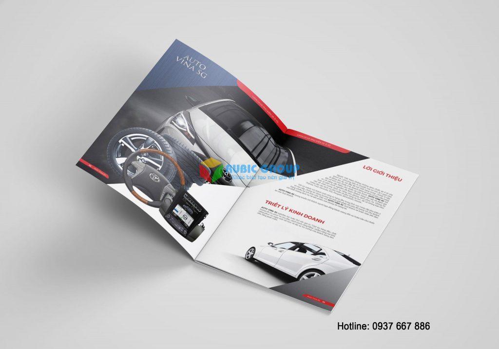 Mẫu thiết kế catalogue của phụ kiện ô tô