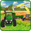 Farm Tractor Transportation 3D icon