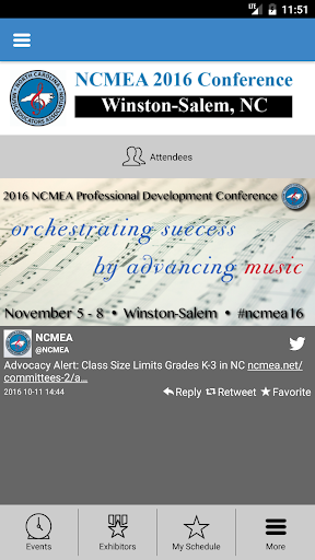 NCMEA Conference 2016 Screenshot