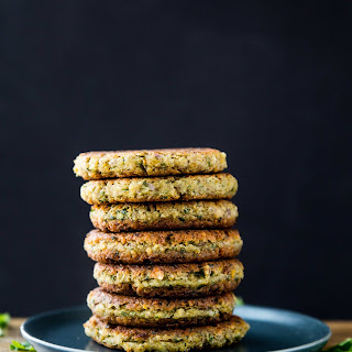 Simple Falafel Fritters with Tahini Dill Dressing.