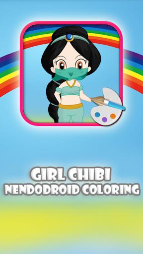 Girl Chibi Nendodroid Coloring