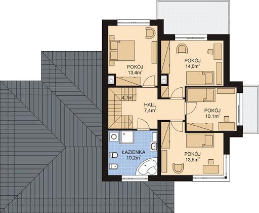 APS 266+2G - Rzut piętra