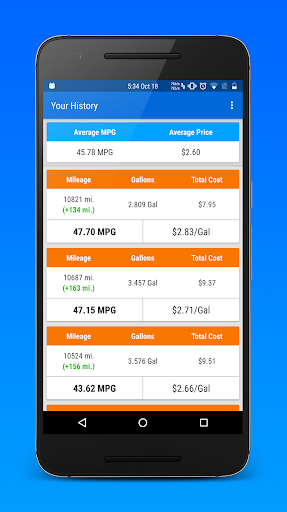 玩免費遊戲APP|下載Gas Wallet: MPG Calculator app不用錢|硬是要APP
