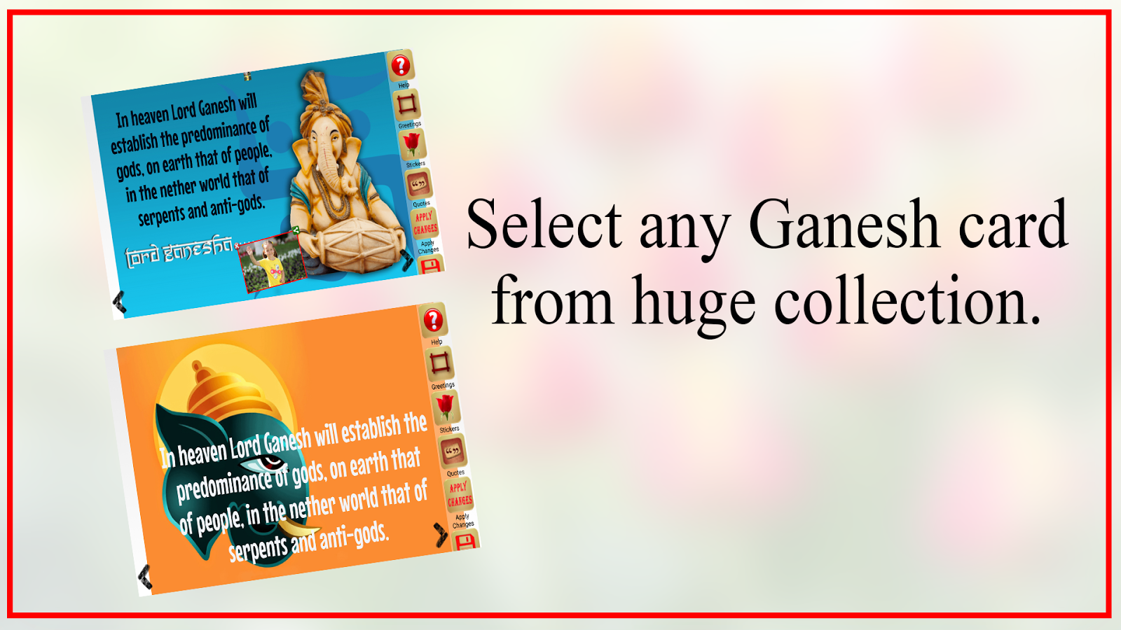 Ganesh chaturthi greeting card Android Apps on Google Play – Ganesh Invitation Cards