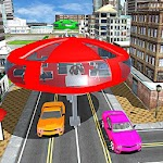 Gyroscopic Bus Futuristic Transport 3D Icon