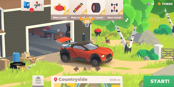 Hillside Drive – Hill Climb MOD (Unlimited Money/Diamonds) 2